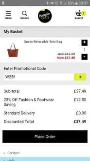 Guess reversible tote bag was £49.99 now £37.49 free delivery RRP £130 code W25F