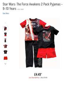 Star Wars: The Force Awakens 2 Pack Boys Pyjamas was £14.99 now £4.49 at Argos item number 418/1860 in stores and online