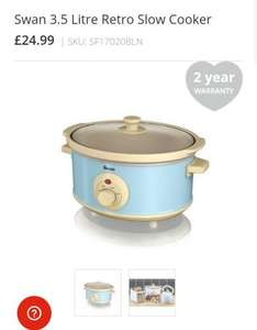25% off code + free delivery - Slow cooker originally 24.99 for £18.75 @ Swan brand