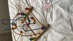 Wilko wooden toddler baby play beads frame £3.50 Coventry Canon park store