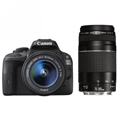 Canon EOS 100D Digital SLR Camera with EF-S 18-55mm f/3.5-5.6 IS STM & EF 75-300mm f/4-5.6 III Zoom Lens £339 John Lewis