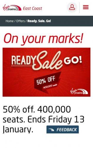Ready. Sale. GO!  virgin trains east coast Sale up to 50% off