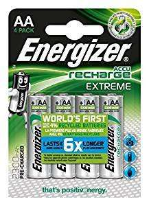 4 x Energizer Accu Extreme AA NiMh Rechargeable Batteries 2300mAh @ 7dayshop - £7.39