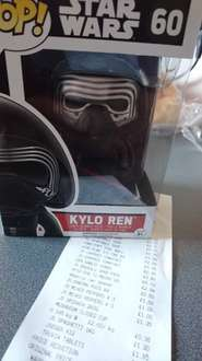 Star Wars Pop Vinyl Kylo Ren figures £3 in store at sainsburys (Stirling)