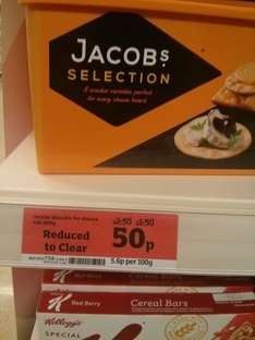 Jacobs Biscuits for Cheese Crackers large Tub 900g 50p Sainsburys