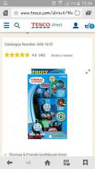 Thomas Toothbrush Timer reduced to £2.75 @ Tesco instore usually £10-£14