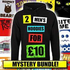 2 mystery mens hoodies for a tenner, with free uk delivery - £10 @ Real Slick Tees/Amazon Marketplace