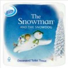 Nicky The Snowman 4pk toilet rolls 30p and The Snowman kitchen rolls 25p at Wilko instore