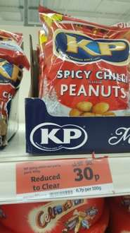 KP Spicy Chilli Peanuts 450g Sainsburys for 30p