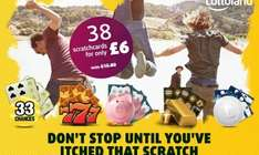 Lottoland Scratchcard bundle 38 scratchcards for £6.00 (67% off normally £15.80) @ Groupon
