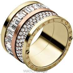 MICHAEL KORS JEWELLERY LADIES' PVD GOLD PLATED RING SIZE L.5 - £57 @ Watch Shop
