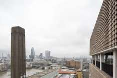 Great free panoramic view of London at Tate Modern Viewing Level, 10th floor, opposite St. Paul's Cathdral on South Bank, just turn up