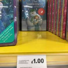 The snowman and the snowdog tin box £1 @ Tesco Forster square Bradford.