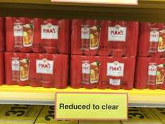 Pimms tins 10 pk reduced to clear £5.65 @ Tesco instore