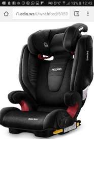 Recaro Monza Nova 2 High Back Booster Seat with SeatFix - Black (2-3) Only £108 @ Halfords using code