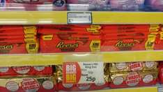 Reese's peanut butter cups king size 25p @ poundstretcher