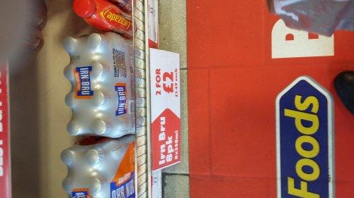 2 X 8 pack 250ml bottles irn bru £2 instore @ heron foods