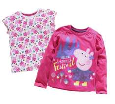 Peppa Pig 2 Pack of Girls T-Shirts - Various sizes - £3.99 down from £9.99 @ Argos