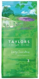 Amazon- Taylors Of Harrogate Lazy Sunday Ground Coffee 227g (Pack of 3) £6.22 Prime free delivery **Add on Item**