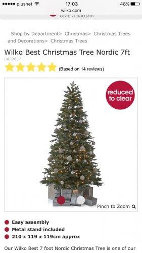 *EXPIRED* WILKO Christmas Tree 75% off £25