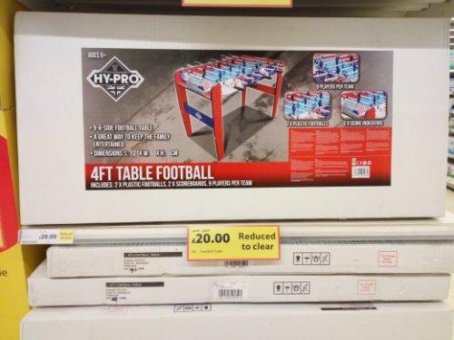 4 feet table football £20 instore @ Tesco