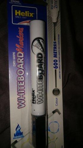 Helix Black Dry Wipe Whiteboard Marker Pen 19p in Home Bargains!