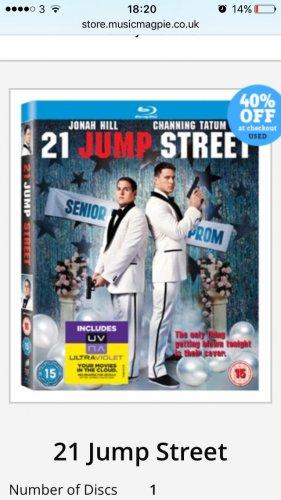 Used 21 jump street blu ray £1.19 @ Music Magpie