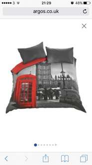 London double duvet set £7.99 @ Argos