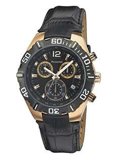 Accurist Men's Quartz Watch with Black Dial Chronograph Display and Black Leather Strap Ms837B £48.82 @ amazon