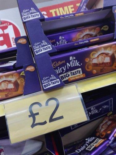 Cadbury Dairy Milk large chocolate £2 @Poundland