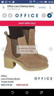Office online sale: Loco Chelsea Boots Taupe Suede £25 reduced from £78