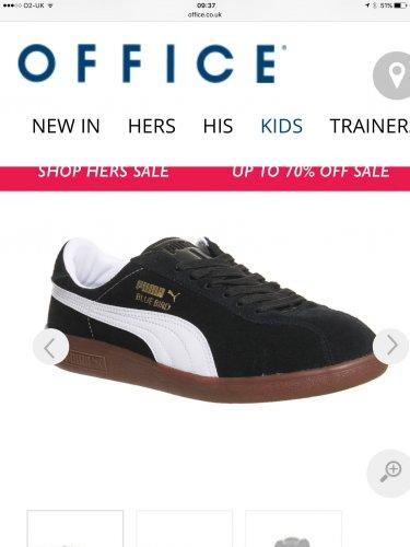 Puma bluebird trainer (black suede, gum rubber sole uk7-11) £28 @ offspring / office.co.uk