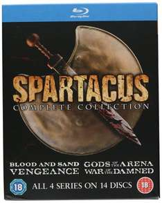 Spartacus: The Complete Collection (Blu Ray) £14.99 (Prime) £16.98 (non Prime) @ Sold by Direct-Offers-UK-FBA and Fulfilled by Amazon