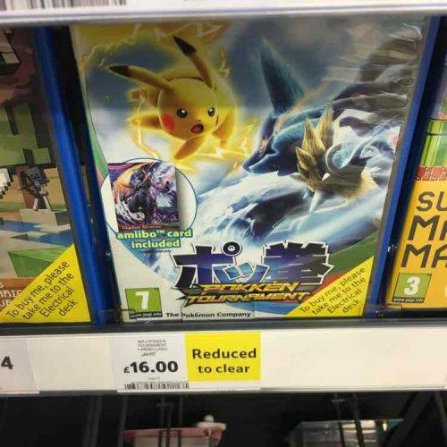 Pokémon Tournament Wii U game £16 in Tesco instore