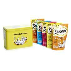 Dreamies Cat Treats Gift Tin (x5 sachets included) @Wilko