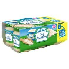 6pk Heinz Smooth Rice Pudding for Babies £1 in Asda