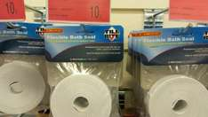 Bath seal, adhesive tape, B&M Chester, £0.10