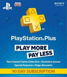 Playstation Plus 90 Day Subscription £11.99 Delivered @ GAME