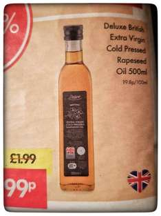 Extra Virgin Cold Pressed Rapeseed Oil 500ml 99p @ Lidl