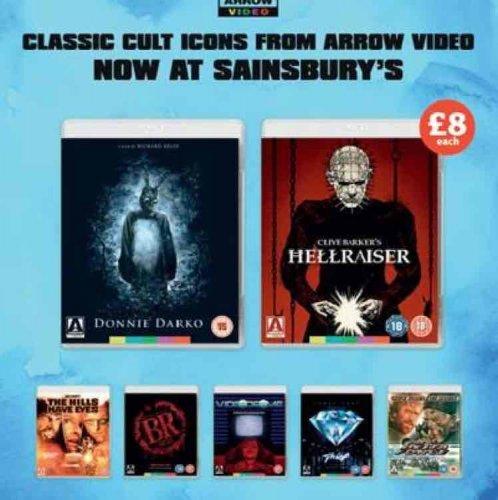 Arrow Video Movies on Bluray £8 at Sainsbury's