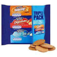 McVitie's Triple Pack of Biscuits (750g) was £2.47 now £1.00 @ Morrisons