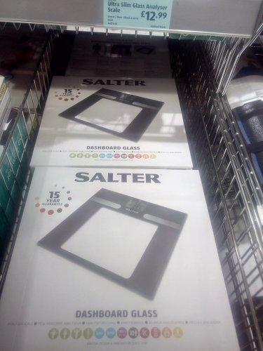 Aldi offer Salter body analyser scales £12.99 instore