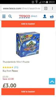 Thunderbirds 10 in 1 puzzle reduced to £3 at Tesco Direct