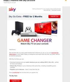 Free 2 Months of Sky Go Extra - Effectively a £10 freebie- check your emails