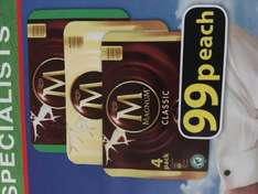 Magnum 4 Pack (Classic, White, Mint) 99p at Farmfoods!