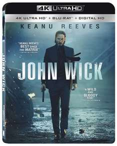 John Wick on 4K Ultra HD Blu-Ray with HDR, Dolby Atmos sound & wider colour gamut £14.39 from wowhd.co.uk,
