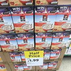 Quaker Oats original 22 pack and syrup 20 pack @ tesco - £1.99