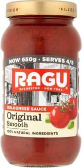 Ragu Original Smooth Bolognese Pasta Sauce (650g) was £1.79 now £1.00 (Rollback Deal)  @ Asda