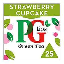 PG green tea 25 bags 35g strawberry cupcake for 89p instore home bargains