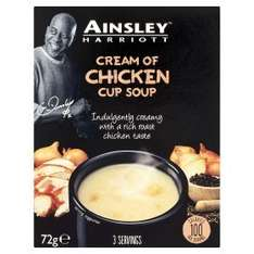 Ainsley Harriotts Soups and Couscous as 0.89p now 0.50p for 3 sachets @ Asda online & instore